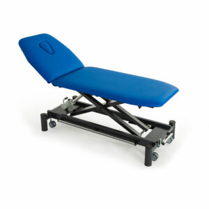 FISIOTECH Giove Couch – 2 Section Electrical/Hydraulic Couch w/ Adjustable Height, Under-bed Clearance for Post-Trauma Care Therapy, Rehab Therapy, Examination