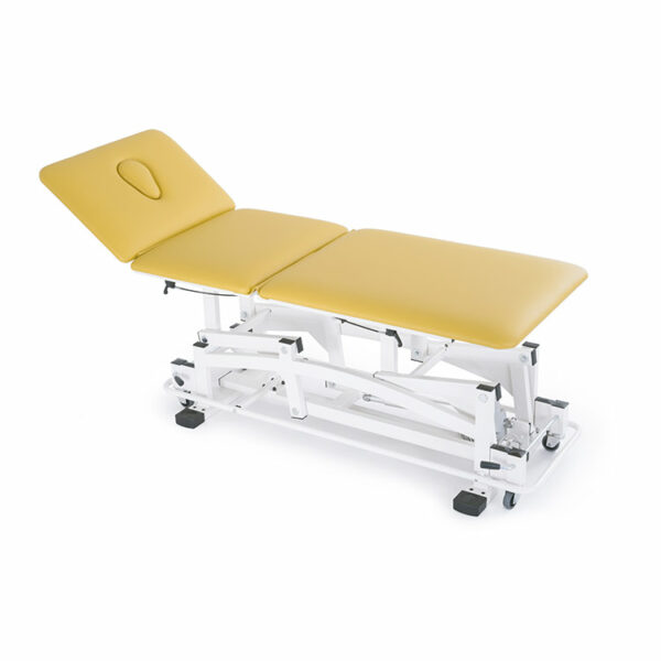 FISIOTECH Amalthea Couch – 3 Section Electrical/Hydraulic Couch w/ Adjustable Height for Rehab Therapy /Massage/Examination with Under-bed Clearance