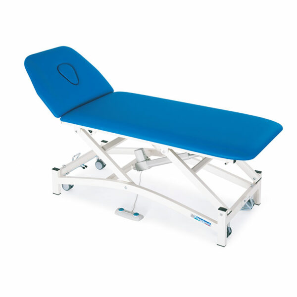 FISIOTECH Ariosto Couch – 2 Section Electrical Couch w/ Height Adjustment, Sliding Arm Rests, Under-bed Clearance for Post-Trauma Care Therapy, Rehab Therapy