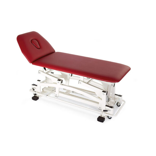 FISIOTECH EDO Couch – 2 Section Electrical/Hydraulic Couch w/ Adjustable Height for Rehab Therapy /Massage/Examination with Under-bed Clearance