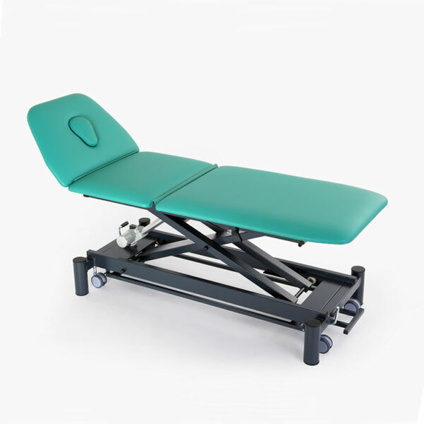 FISIOTECH Giove3 Couch – 3 Section Electrical/Hydraulic Couch w/ Trendelenburg Position, Adjustable Height for Post-Trauma Care Therapy, Rehab Therapy, Examination