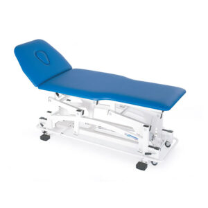 FISIOTECH Monteleone Couch – 2 Section Electrical/Hydraulic Couch w/ Adjustable Height for Rehab Therapy /Massage/ Examination with Under-bed Clearance