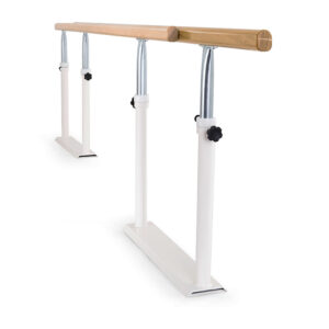 FISIOTECH Foldable Parallel Bars – Exercise Parallel Bars w/ Adjustable Handrails for Rehab Therapy – Post Trauma Recovery