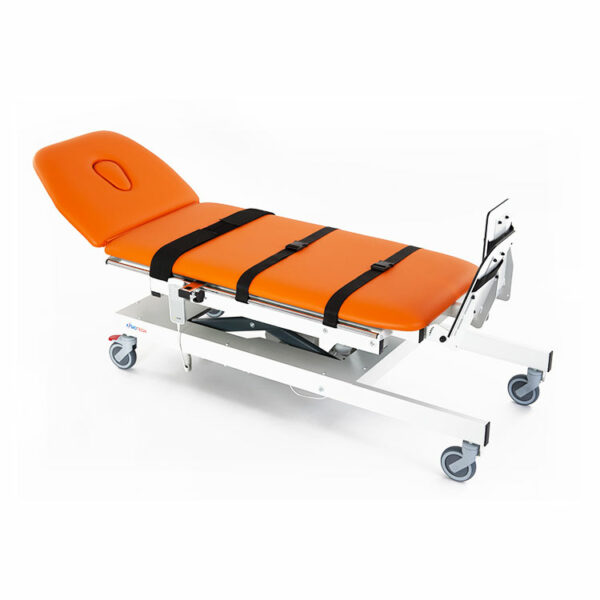 FISIOTECH Emera Table – 2 Sections Tilt Table w/ Fixed Height, Adjustable Headrest, Under-bed Clearance for Post-Trauma Care Therapy, Rehab Therapy, Examination