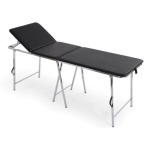 FISIOTECH Antero Couch – 3 Section Steel Frame Portable Examination Table, Under-bed Clearance for Rehab Therapy, Post-Operation Examination (116500)