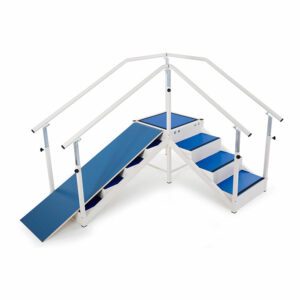 FISIOTECH Inclined Ramp for Rehabilitation Stairs for Post Trauma Care Therapy (132200)