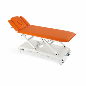 FISIOTECH Minerva Couch - 4 Section Medical Electrical Couch w/ Adjustable Height for Post-Trauma Care Therapy, Rehab Therapy, Examination