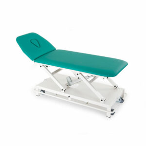 FISIOTECH Oceano Couch - 2 Section Electrical Couch w/ Adjustable Height, Under-bed Clearance for Post-Trauma Care Therapy, Rehab Therapy, Examination