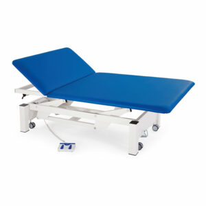 FISIOTECH Titan2 Couch – Section Electrical Couch w/ Adjustable Height, Under-bed Clearance for Post-Trauma Therapy, Rehab Therapy, Examination