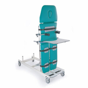 FISIOTECH Urano Table – 4 Sections Tilt Table w/ Fixed Height, Adjustable Headrest, Under-bed Clearance for Post-Trauma Care Therapy, Rehab Therapy, Examination (115014)