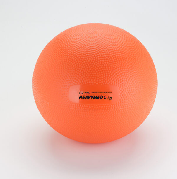 Gymnic Heavymed 5, Orange, Exercising Balls for Outpatient-Rehabilitation Therapy