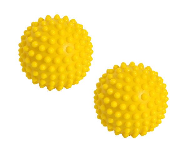 Gymnic SENSYBALL 28, Yellow, Bumpy Balls for Hand, Finger, Hip, & Back Massage, Stimulating Sensory Impulses