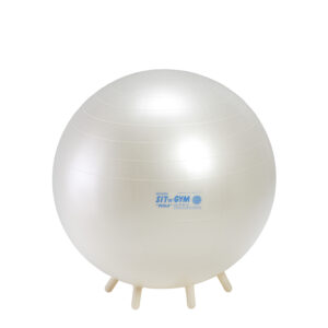 Gymnic Sit'n'Gym Perla 55 BRQ, Pearl White, Round Shape Ball for Movement & Balance Physiotherapy