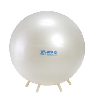 Gymnic Sit'n'Gym Perla 65 BRQ, Pearl White, Round Shape Ball for Movement & Balance Physiotherapy