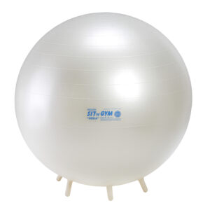 Gymnic Sit'n'Gym Perla 75 BRQ, Pearl White, Round Shape Ball for Movement & Balance Physiotherapy